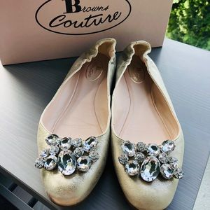 Browns Couture Jeweled Flats (Size: 7.5)